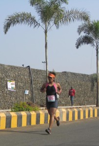 Pragnya during her stint at the Nasik Triathlon