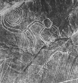 Monkey Geoglyph in Nazca
