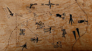 Line Map of major geoglyphs in Nazca