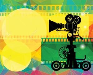 19140147-Abstract-cinema-background-Stock-Vector-movie-film-camera
