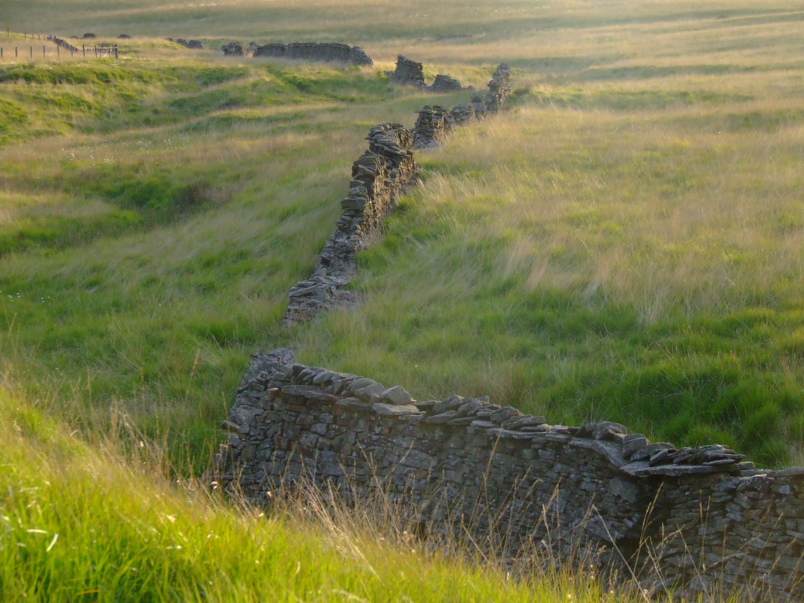 Dry_stone_wall_near_Calf_Hey_Brook,_West_Pennine_Moors_-_geograph.org.uk_-_1710989