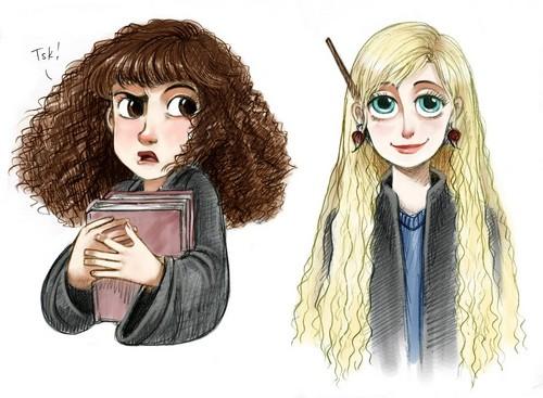 Artistic impression of Luna Lovegood & Hermione Granger